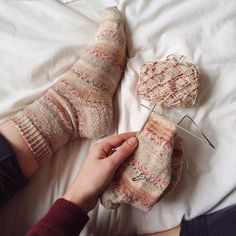Sweet socks knitting