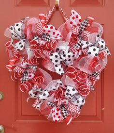 Valentine Heart mesh wreath $32