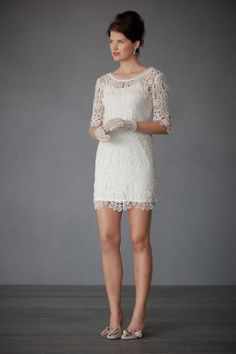 reception dress? Or black and white lace dresses for each bridesmaid