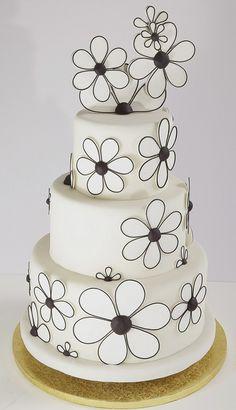 Black/White Flower Power by Alliance Bakery, via Flickr