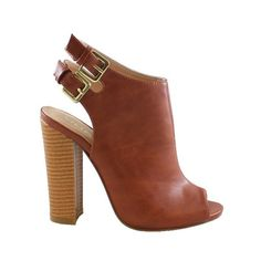 Sydney Peep Toe Heels - Tan