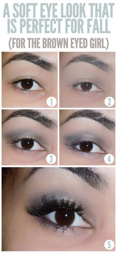 10 Creative And Useful Makeup Tutorials, A Soft Eye Look That is Perfect For Fall (For The Brown Eyed Girl)