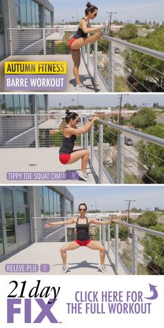 Barre workout.