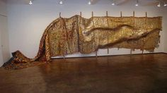 The current work of artist El Anatsui : Zebra Crossing: Jack Shainman Gallery