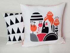 Darling Clementine Pillow from their Woodland Collection (via designworklife)