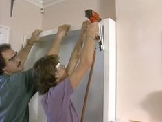 How to Build a Built-In Bookshelf  Add warmth and character to a room by installing built-in bookshelves in an unused corner with these easy step-by-step instructions