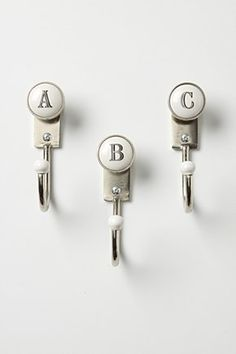 Alphabet towel hooks