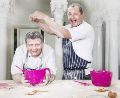 Mark Greenaway and Neil Forbes raise some dough to beat breast cancer!