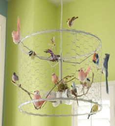 Make a charming Shabby bird chandelier tutorial and 45 BEST Shabby Lifestyle Decor & Accessory DIY Tutorials EVER!! From MrsPollyRogers.com