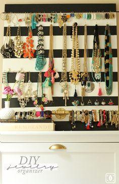 DIY Jewelry Organizer www.charmingincharlotte.blogspot.com