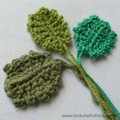22 Crochet Leaf Patterns To Celebrate the Start of Fall: Pansy leaf free #crochet pattern from @dedristrydom