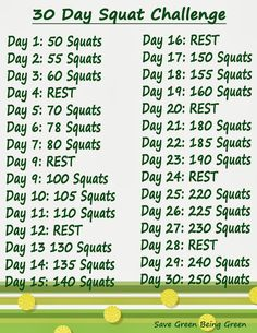30 Day Squat #Challenge - Let's Do This!