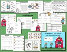 farm themed, thinking maps style charts