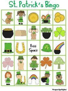 Free! St. Patrick's Day Vocabulary Bingo