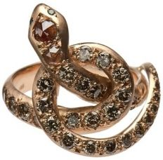 Ileana Makri - ?Berus? Coiled Snake Ring #15things #trending #fashion #snake #jewelry