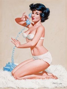 Telephone pin-up
