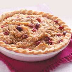 Cranberry Crisp Recipes from Taste of Home, including Cranberry Pear Crisp Pie Recipe - submitted by Priscilla Gilbert of Indian Harbour Beach, Florida