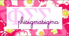 Combined two of my favorite things, Phi Sigma Sigma and Lilly <3