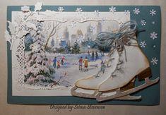 inspiracj kartkow, christma card, selma stamp, card inspir, xmas card, scrapbookingcard layout, floral designs, card creation, stamp ideal