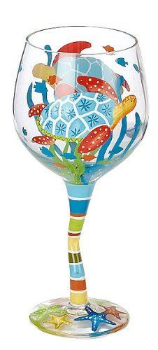 Evergreen Turtle Wine Glass by Evergreen. $10.19. Imported. Enjoy a glass of wine in this hand painted wine glass from Evergreen.Beautifully decorated with a colorful turtle design. This 14 oz. wineglass measures 4.75'' x 7''.