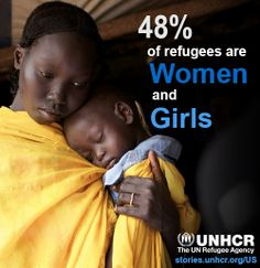 48% of refugees are women and girls