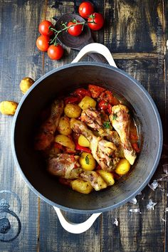 Chicken Drumsticks with Potatoes and Sweet Tomatoes-The Best Healthy Chicken Drumstick Recipes!