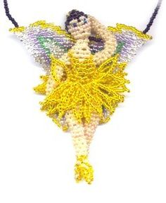 3D Beaded Daffodil Fairy Pattern and Kit. (Click on photo to go to this on our site). $26.95
