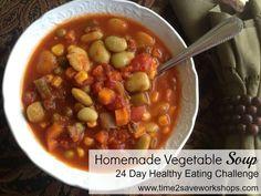 Homemade Vegetable Soup Recipe - Time 2 Save Workshops