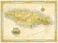 Ye olden Jamaica map