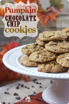 Pumpkin Chocolate Chip Cookies #FallDessert @JBBrooke LLC