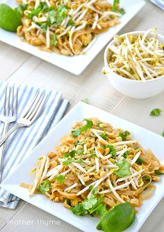 Vegetable Pad Thai Delish, however no peanuts added here