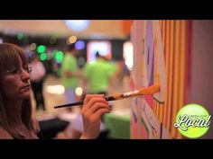 Stacked Box Community Mural Project - GreenLight Local Sponsored Event! - YouTube