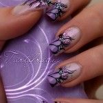 purle nail art designs 2013