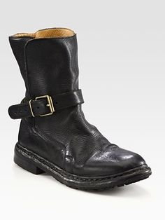 Burberry - Leather Buckle Ankle Boots - Saks.com - StyleSays