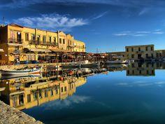 TRAVEL'IN GREECE | Old harbour, Rethymnos, #Crete, #Greece, #travelingreece