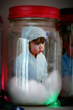Photo Memory Jars...why keep such ideas only for Christmas? How about a Valentine memory jar? Mardis Gras or Easter anyone?