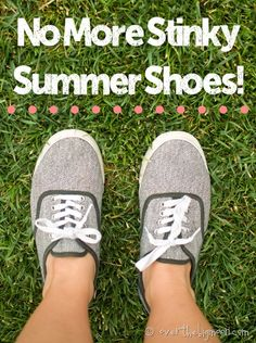 No more stinky summer shoes!  How to keep no-sock looks odor free.