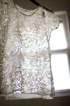 DIY Lace Shirt
