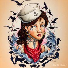sailor girl tattoo
