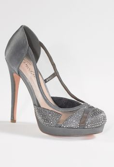 High Heel Mesh and Satin Pump from Camille La Vie