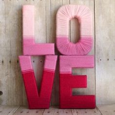 Learn how to make these LOVE yarn letters for valentines day, or every day decor.