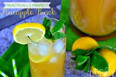 Practically Perfect Pineapple Punch   MomOnTimeout.com Punch or cocktail - it's your choice!