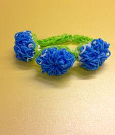 Green and blue #springblossom bracelet from Bandaloom!