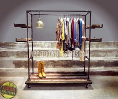 Industrial Garment Rack by Pipeitdown