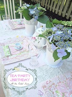 Little girl tea party ideas www.atthepicketfence.com