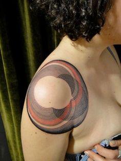 graphic, circl, tattoo artists, tattoo patterns, a tattoo, geometric tattoos, shoulder tattoos, tattoo ink, side tattoos