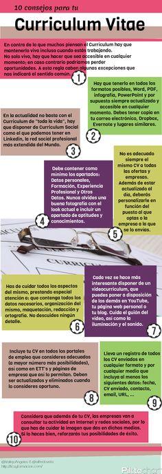 10 consejos para tu Curriculum Vitae #infografia