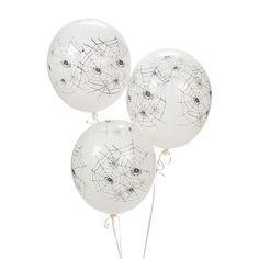 Spiders Latex Balloons - OrientalTrading.com