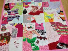 Deposit Listing / Custom Memory Quilt / Tshirt Quilt / by 22HANDS. I love how it's not symmetrical. This is awesome. I hope one day I can do this!!