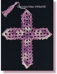 Bible Crafts - Crochet Cross Bookmark